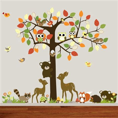 animal wall stickers forest wall decals 2017 grasscloth wallpaper