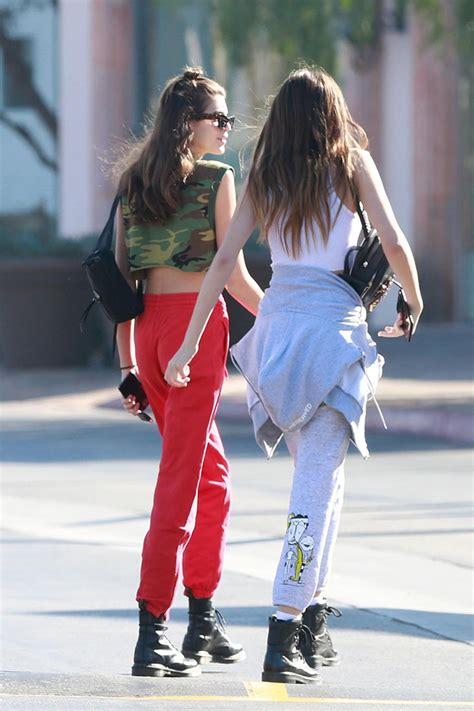 kaia gerber shoes kaia gerber combat boots athleisure style in red and green