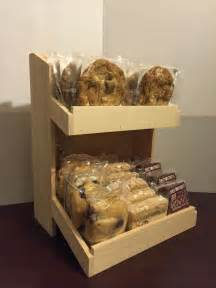 Baked Goods Shelf by Bakery Display Wood Countertops And Rustic Wood On
