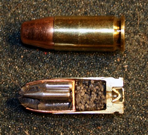 x section of the 9mm got ammo guns and