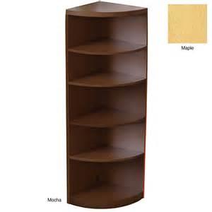 Low Corner Bookcase Mayline Aberdeen Bookcase