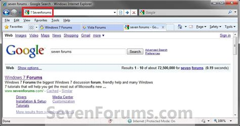 Search In Address Bar Search From Explorer 8 Address Bar Windows 7 Help Forums