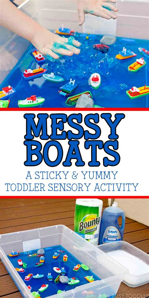 mini boat for toddler messy boats sticky yummy toddler play busy toddler