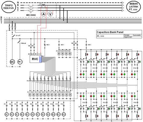 diagram kapasitor bank instalasi power factor controller rvc from abb