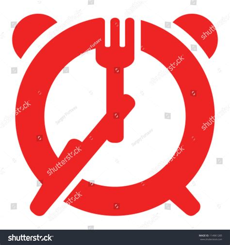 time knife dinner time sign fork and knife as of alarm clock