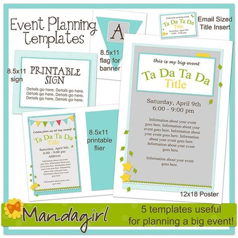 Free Event Planning Flyer Templates