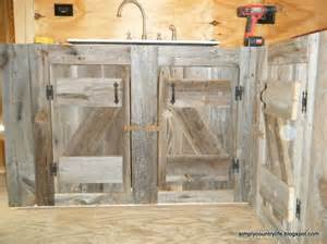 Kitchen cabinets made from reclaimed salvaged barnwood diy home