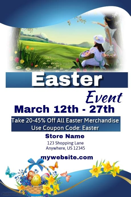 easter sales event template postermywall