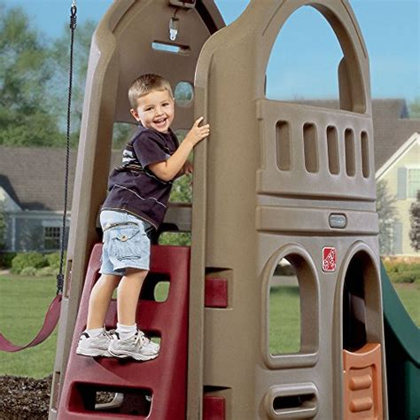 step2 naturally playful playhouse climber and swing step2 naturally playful playhouse climber swing set