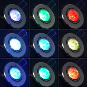 ac85 265v 3w rgb color changing ceiling led light