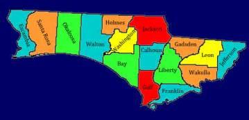 county map of florida panhandle birding in florida panhandle