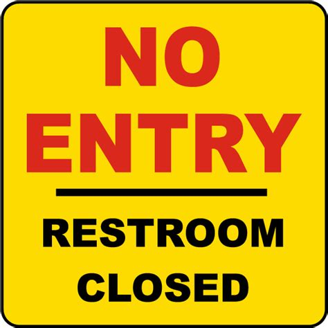 bathroom closed sign restroom closed no entry label by safetysign com r1488