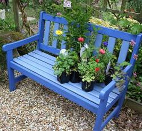 blue garden bench how to find the right garden bench how did i do it