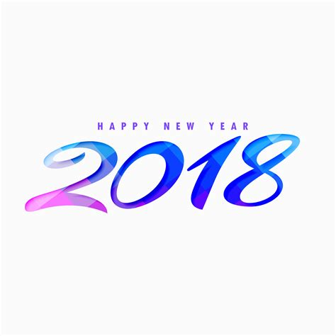 creative happy new year 2018 design free vector