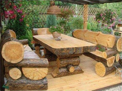 rustic log benches outdoor 17 best images about rustic furniture on pinterest