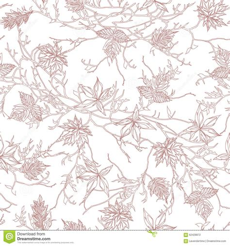 brown tree pattern brown tree seamless vector pattern stock vector image
