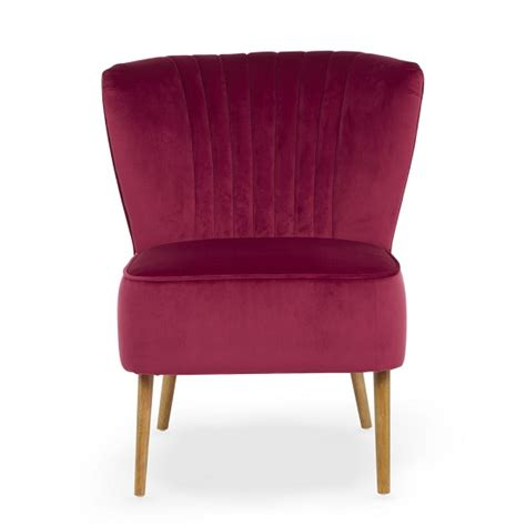 Bedroom Chair And Stool Samova Fabric Bedroom Chair And Foot Stool In Ruby Velvet