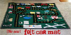 Floor Car Play Mats Felt Car Mat With Tutorial Oopsey
