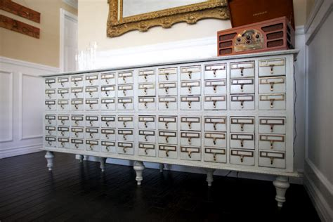 Library Card Catalog Furniture by 8 Repurposed Card Catalogs
