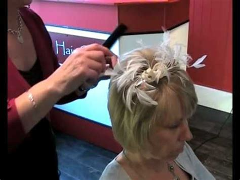 wedding hair style   add volume  short hair
