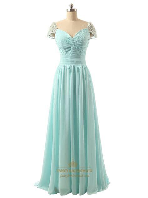 light green bridesmaid dresses light green beaded cap sleeve sweetheart neckline chiffon