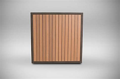outdoor table top 40 quot x 40 quot faux teak outdoor table top with wicker edge