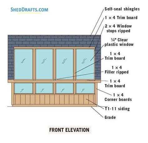 greenhouse saltbox garden shed plans blueprints