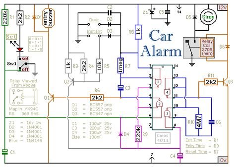 security alarms circuit diagram security alarms
