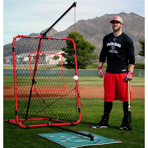swing away batting trainer swingaway mvp ultimate hitting system red