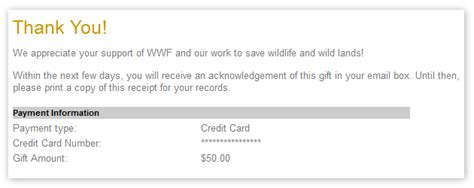 wwf charity letter search results for thank you from church for donation