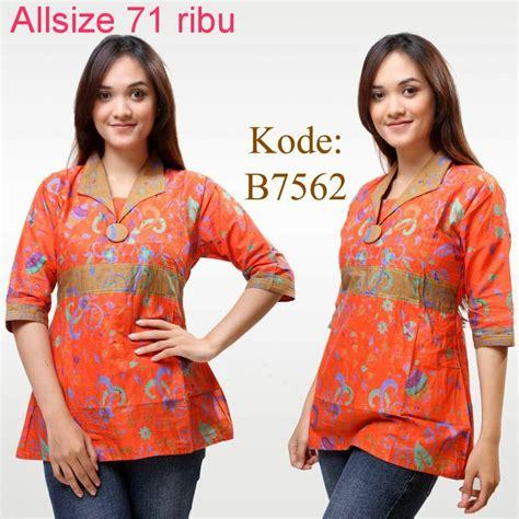 Batik Kerja Wanita 1 baju batik atasan seragam model baju batik modern design bild