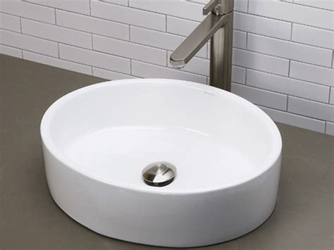 deep bathroom sinks white deep oval ceramic vessel sink