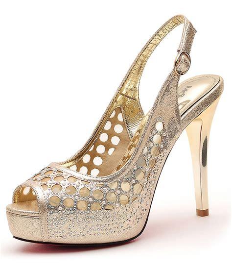 Sepatu Shoeshigh Heels Import 14cm Gold gold mesh high heel shoes moolecole original tamochi