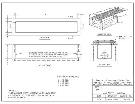 A Place Details Trench Drains Precast Concrete Sales Company