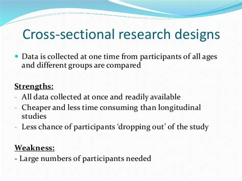 weakness of cross sectional study research methods revision 2015