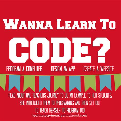 learn to code learn to code for teachers technology in early childhood