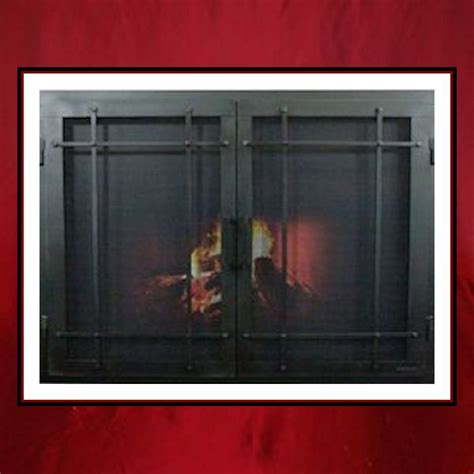 mission style fireplace door northshore fireplace