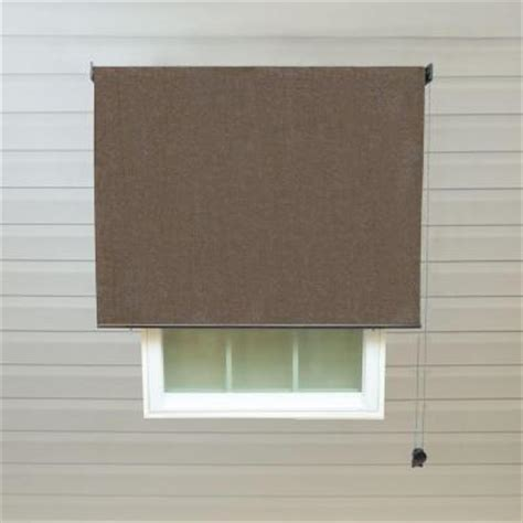 cocoa leaf l shade radiance cocoa exterior rollup shade 72 in w x 72 in l