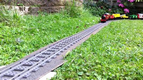 lego trains in the garden 2