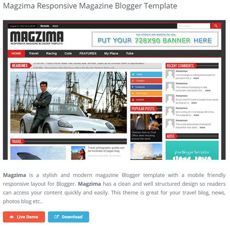 best free responsive blogger templates impact social media