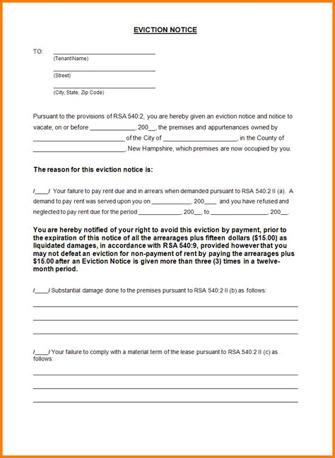 free eviction letter template search results for eviction notice sle letter