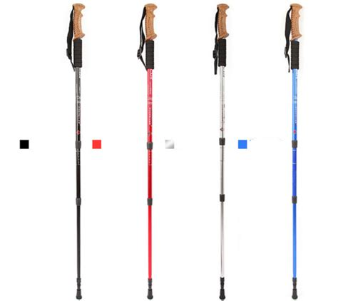 Trekking Pole Tongkat Hiking 1 X Forclaz 500 Antishock Hiking Pole aotu tongkat hiking trekking alpenstocks pole black jakartanotebook