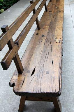 custom   edge barnwood bench   rest  long  intelligent design woodwork