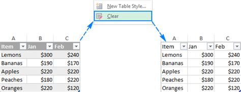 Remove Table Formatting by How To Change Excel Table Styles And Remove Table Formatting