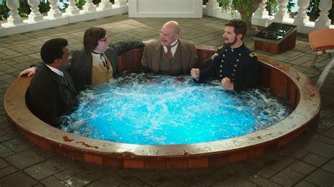 hot tub time machine bathtub part hot tub time machine 2 review one dip in the tub too many