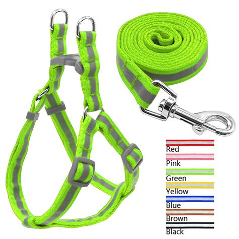 yorky s coupons 7 colors reflective harness leash lead set for small medium dogs puppy
