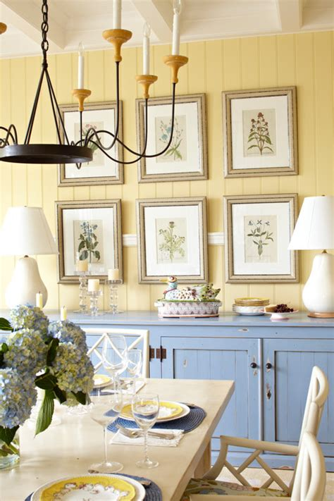 Botanical Dining Room Decorating With Botanical Prints Town Country Living