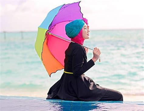 Atasan Dan Menyusui Kerja Bintik Ahm41 model baju pantai wanita muslimah busana pantai muslimah berhijab trend model baju terbaru 2016