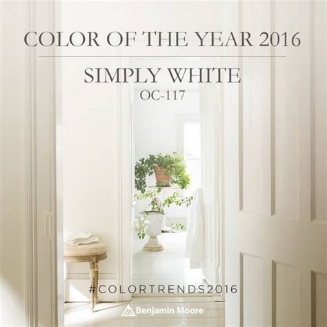 benjamin color of the year 2016 simply white places in the home