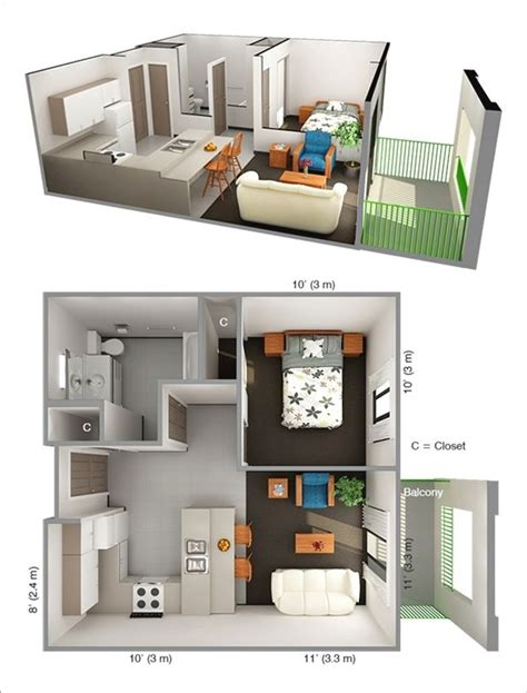 one bedroom design plans best 25 one bedroom apartments ideas on pinterest one